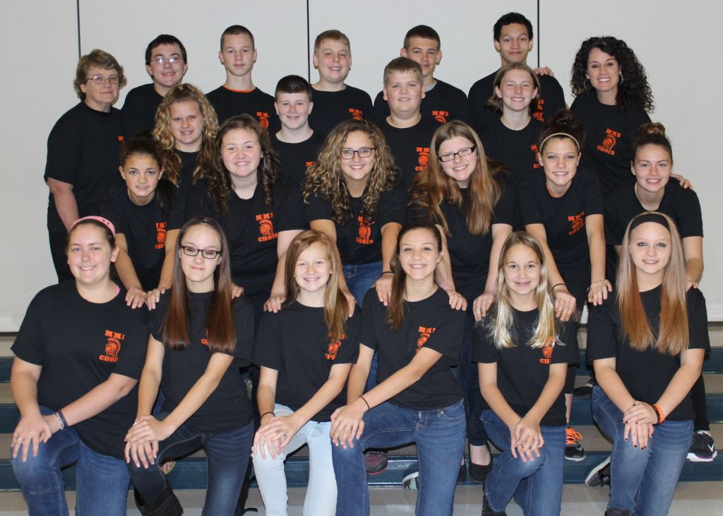 The MMS Select Choir for the 2015-2016 School Year