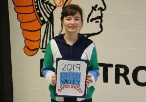 Moundsville Middle School 8th grader JoLeigh Young was named the overall winner in the Ohio River Sweep Poster Contest T-Shirt division.